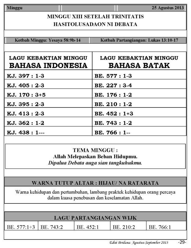Ibadah Harian 2013-08-25