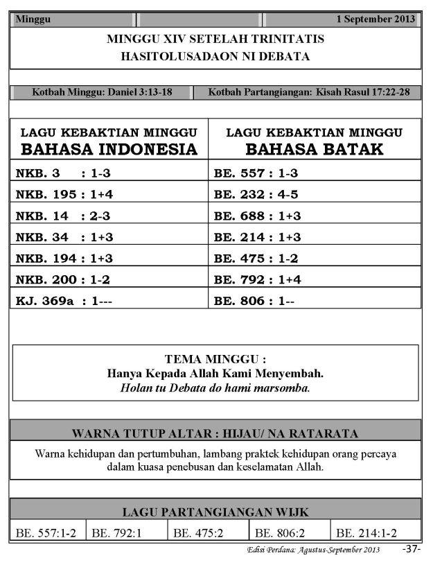 Ibadah Harian 2013-09-01