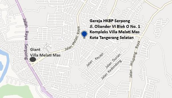Peta Lokasi - HKBP Serpong